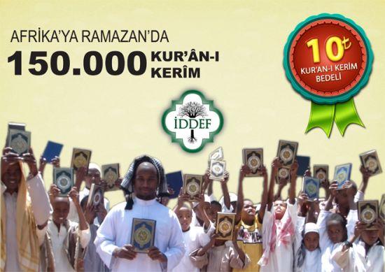 Afrika'ya Ramazan'da 150.000 Kur'an-ı Kerim